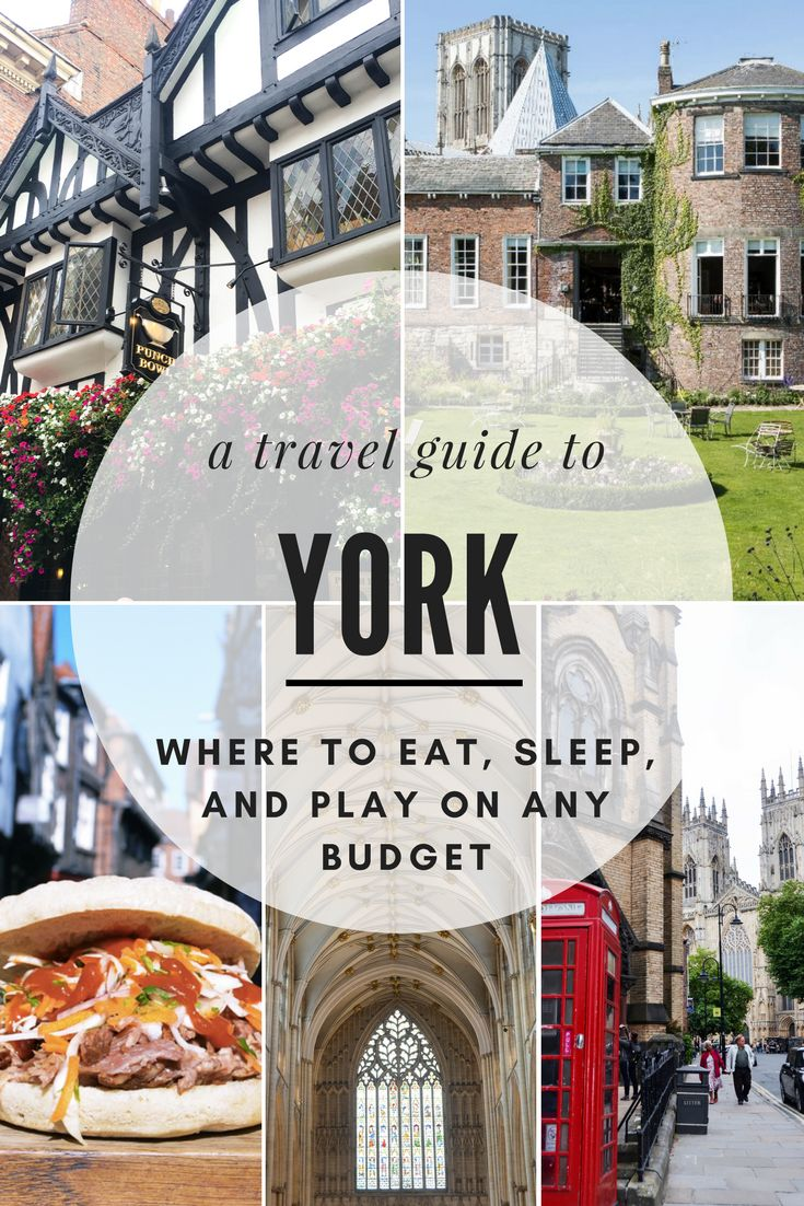 Just a quick, 2-hour train ride north of London is the historic city of York. It's the perfect destination to discover medieval landmarks, charming tea rooms, boisterous pubs, and the idyllic streets of The Shambles, that inspired Diagon Alley. If you're traveling to York for the first time, or even going as a day trip from London, use this travel guide to see where you can eat, sleep, and play on any budget in York!