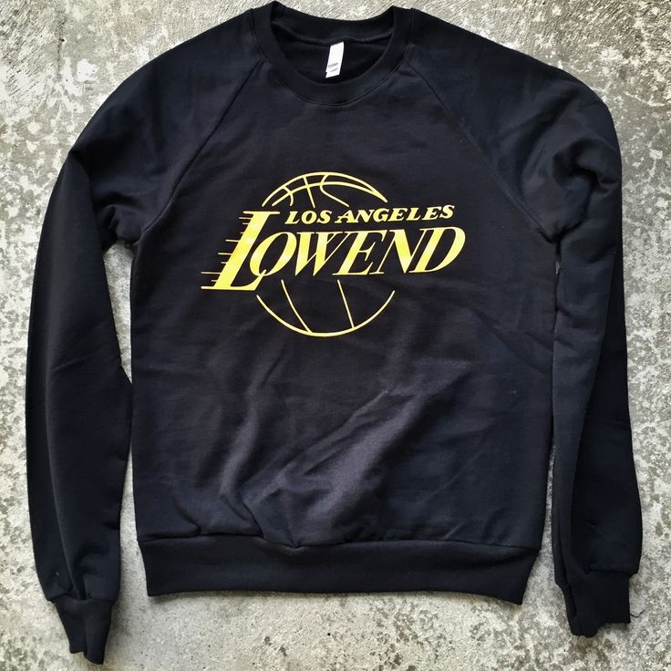"Low End Theory limited edition ""Showtime"" crewneck sweatshirt. Custom design screen-printed on extra-soft American Apparel ""Californ..."