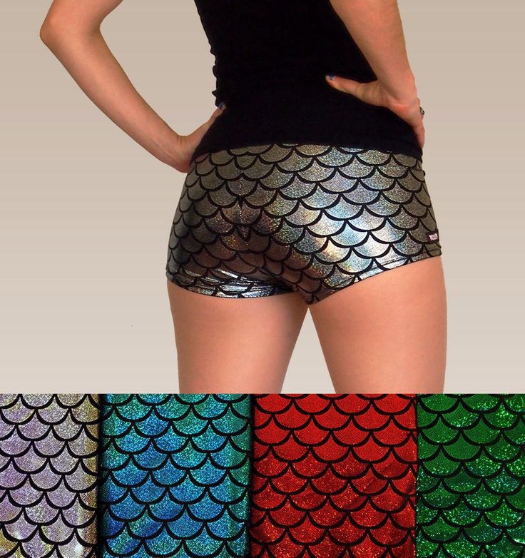 Shiny Colourful Mermaid Fish Scale Roller Derby Shorts by HellcatClothing on Etsy https://www.etsy.com/listing/198926125/shiny-colourful-mermaid-fish-scale