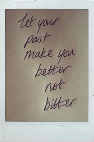 leave the past where its meant to be