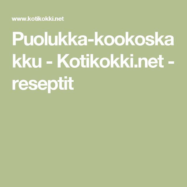 Puolukka-kookoskakku - Kotikokki.net - reseptit