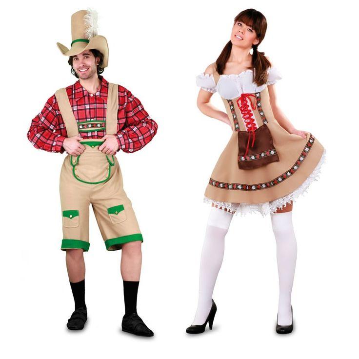 Costumes pour couples tyroliens luxe d guisementscouples - Disfraces del mundo ...