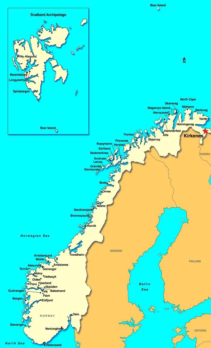 Kirkenes, Norway Map (Ice Hotel)!