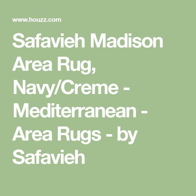 Safavieh Madison Area Rug, Navy/Creme - Mediterranean - Area Rugs - by Safavieh
