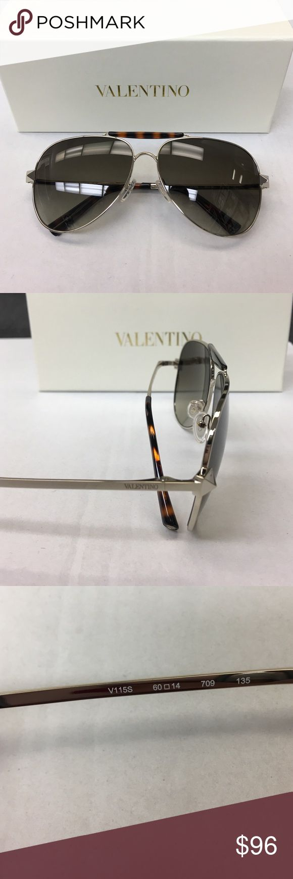 NWT Authentic Valentino Aviator Sunglasses w Case TREAT YO SELF👑  Brand New!! Stunning Authentic Valentino Women's Sunglasses  Model: V115s Color: 709 Light Gold, Dark Havana Style: Aviator  Includes: Valentino Box & Case Microfiber Cleaning Cloth Valentino Certificate of Authenticity   The PERFECT present for anyone!!  Retails for over $360 ~ *Price Firm* Valentino Accessories Sunglasses