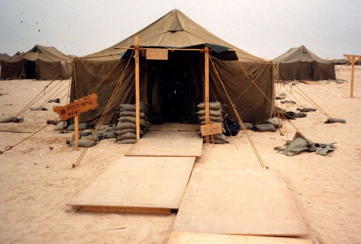 desert storm military tent // vintage army tent