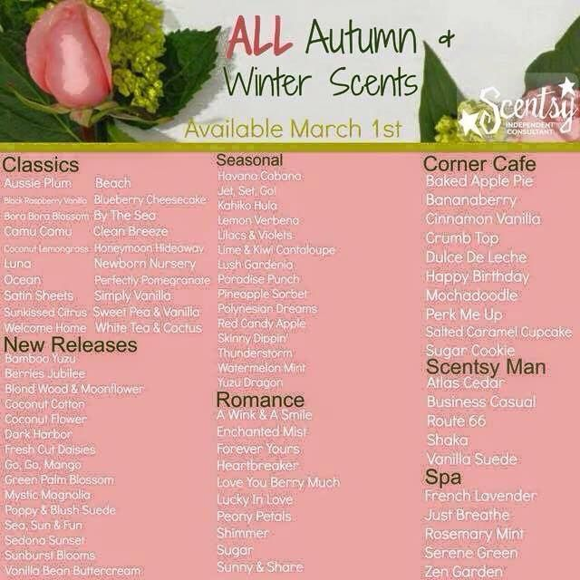 #Scentsy #gorgeous scents #Glorious Scents   #memories #fresh #clean  #autumn  #winter