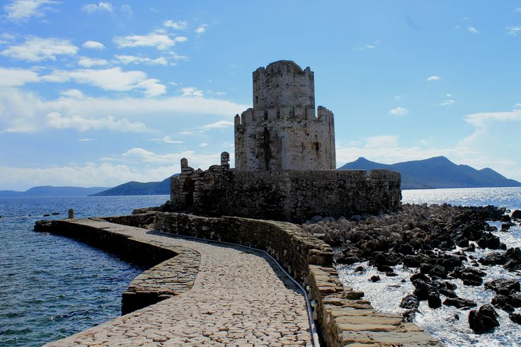 Fortress of Methoni at the Castle of Methoni. Former watchtower, lighthouse and safe haven in case of siege.