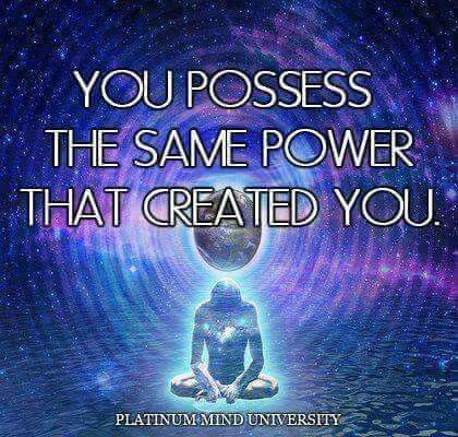 Wow this is such a powerful thought. Obviously I am not ALL powerful like my Creator but such an amazing thought!