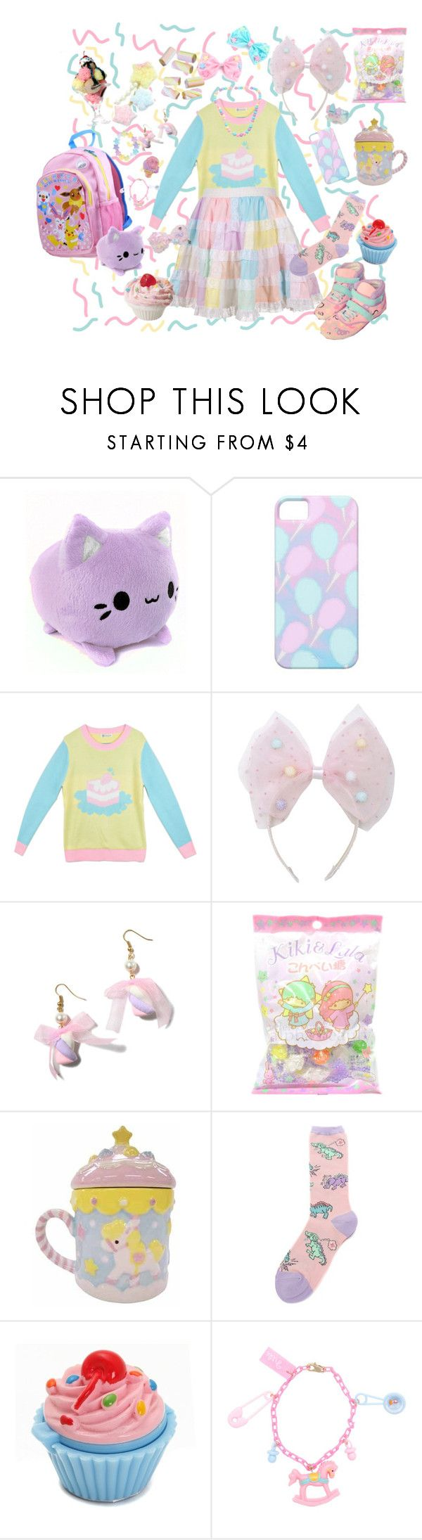 """""""Candy pop party~♪"""" by sweetpasteldream ❤ liked on Polyvore featuring мода и Cotton Candy"""