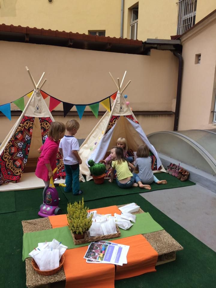 Kids love to play with the teepees!