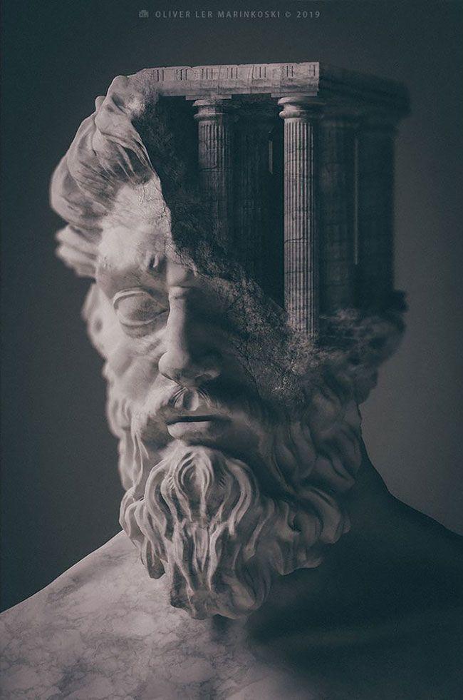 Artist schafft 3D-Skulpturen von alten Gottheiten und mythologischen Kreaturen mit …   – tattoo world