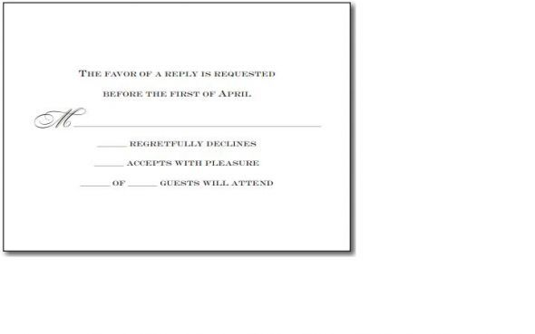 Responding To A Wedding Invitation: Invitation Wording For No Extra Guests