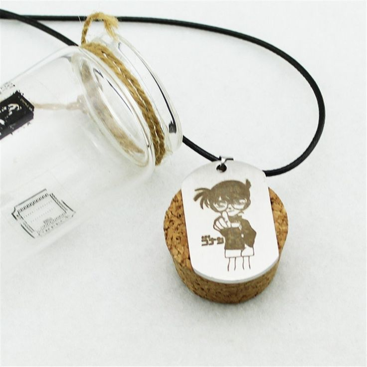 Detective Conan Case Closed Anime Titanium Steel Pendant Necklace. #DetectiveConan #CaseClosed #Anime #TitaniumSteel #Pendant #Necklace