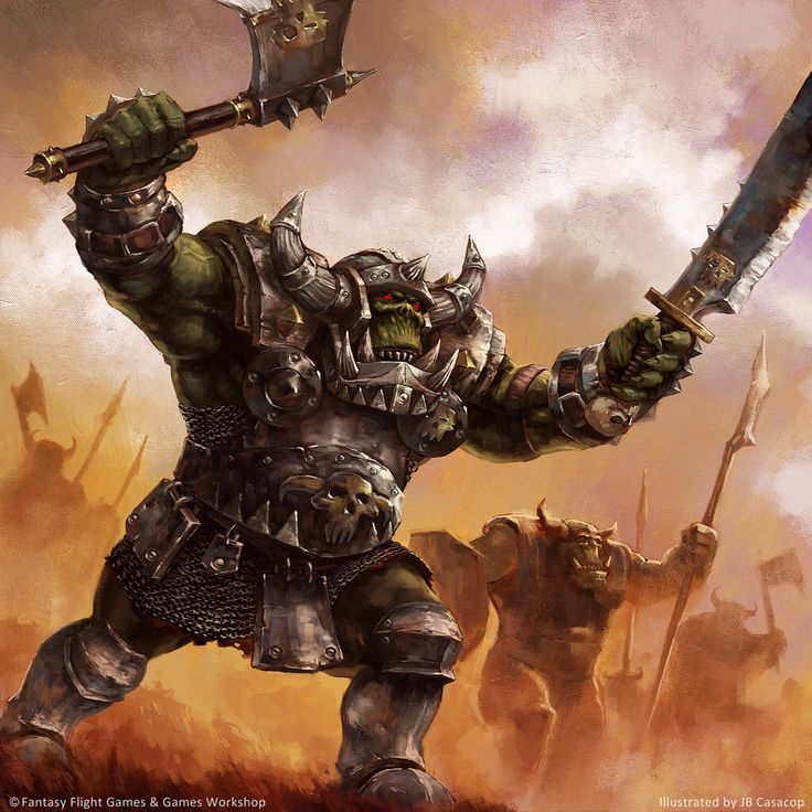 Battleworn Orc by MihaiRadu | Monstrous Humanoids | Pinterest
