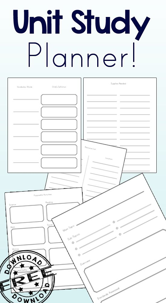 The perfect Unit Study Planner!! I love how simple and concise this is while being so useful!!