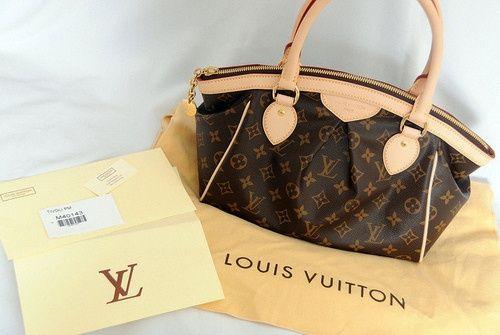 #LV #LVbags Louis Vuitton Tivoli PM Brown Top Handles M40143