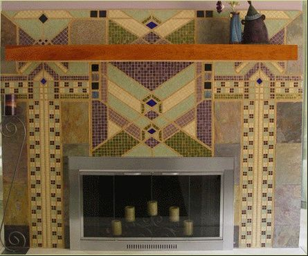 12 best Fireplace Tile images on Pinterest | Fireplace tiles ...