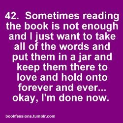 bookfessions: The Reader, In A Jars, So True, Love Reading, Reading Books, Books Words, Books Love, Redeemer Love, Books Hugs