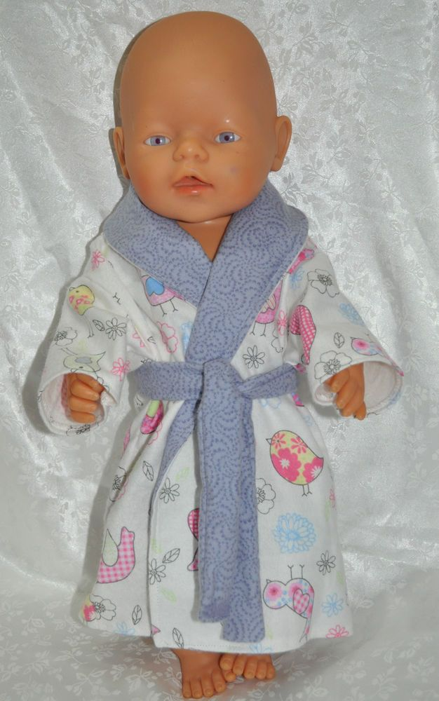 """Doll Clothes for 17"""" Baby Born Doll ~ Reborn Dolls ~ Birds Dressing Gown"""