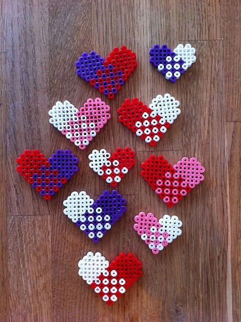 heart hama beads ornament