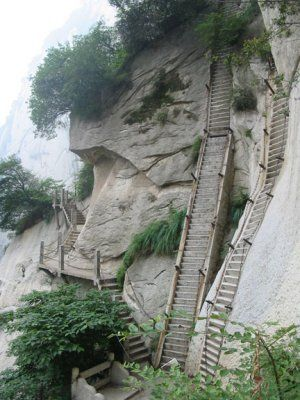 part of the mt huashan hiking trailPhotos, Buckets Lists, Mountain, Stairs, Huashan Hiking, Hiking Trails, Mt Huashan, Challenges Accepted, China