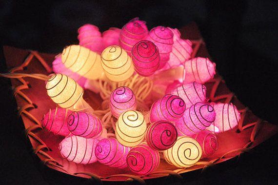 35 lampadine - rosa tonifica luci stringa Cocoon per Patio, nozze, Party e decorazione (20 lampadine)
