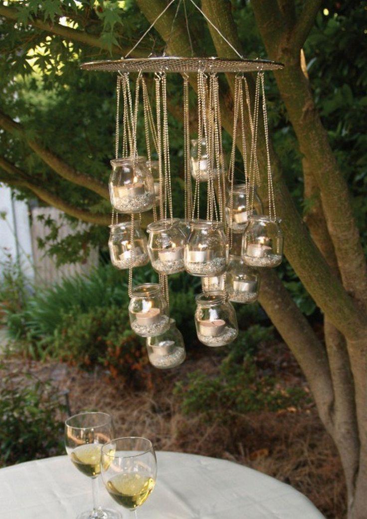 Manualidades: una lámpara original con vasos de Yogurt