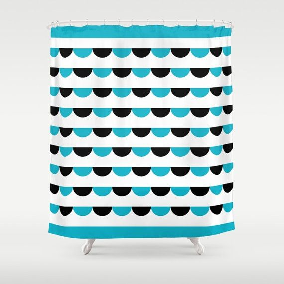 4 colours Nordic Funfair Shower Curtain Modern by ThingsThatSing