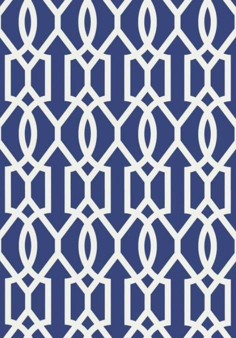 Downing Gate, wallpaper and fabric in Navy from the Resort Collection by Thibaut