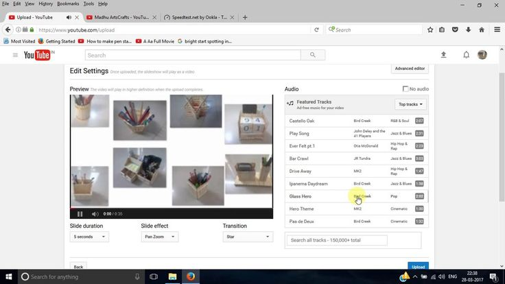 How to make video from photo slideshow using YouTube video editor