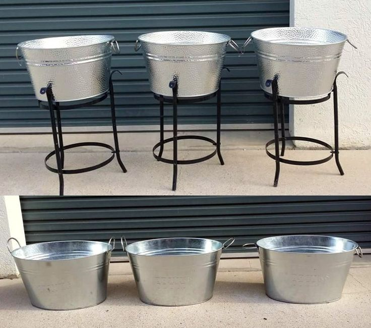 Drink tubs for bar or outdoors. One white tub also available.