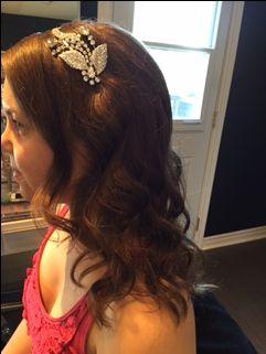 Bridal Hair #HairAccessories #HollywoodCurls #UrbanSpaHairDesigns