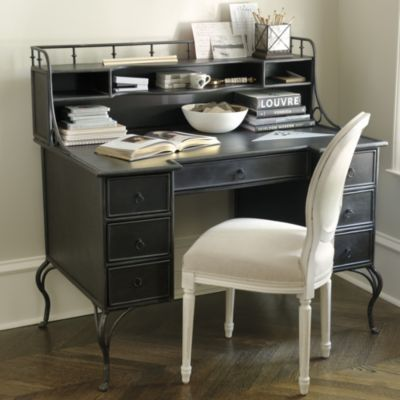charlize metal desk from ballard designs at 179900 very interesting style once thing for - Ballard Design Desks