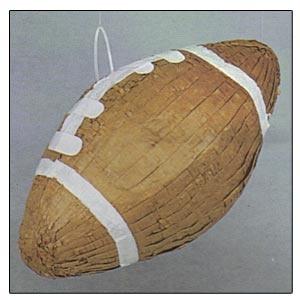 "Football Pinata. Football 9""h x 15.5""w"
