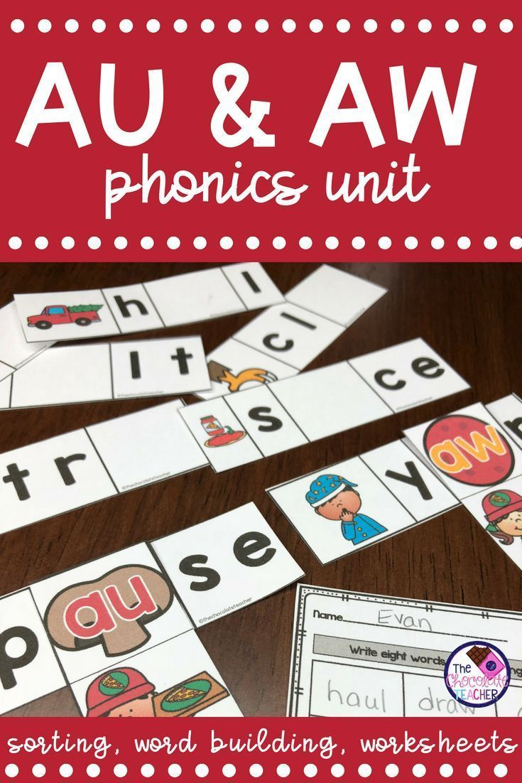 hight resolution of AU \u0026 AW Phonics Activities and Worksheets   Phonics