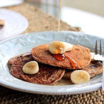 Oatmeal Chocolate Chip Banana Pancakes {healthy, vegan   gluten-free} Recipe - ZipList