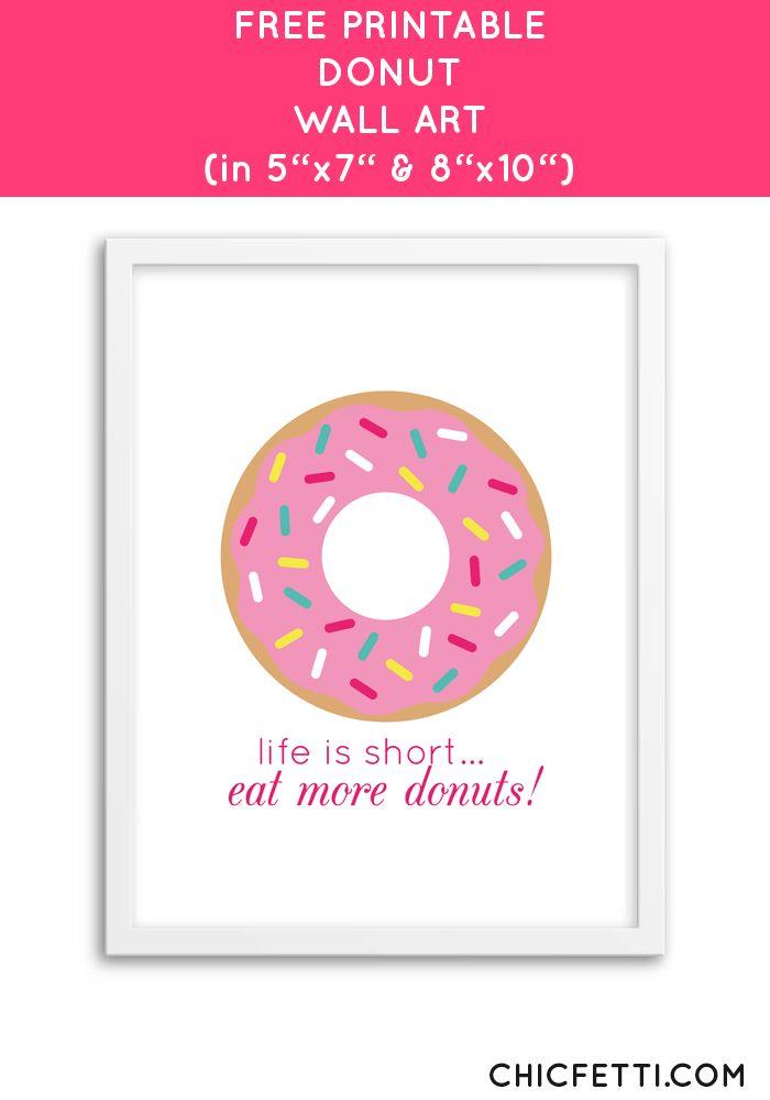 Free Printable Donut Art from @chicfetti - easy wall art diy