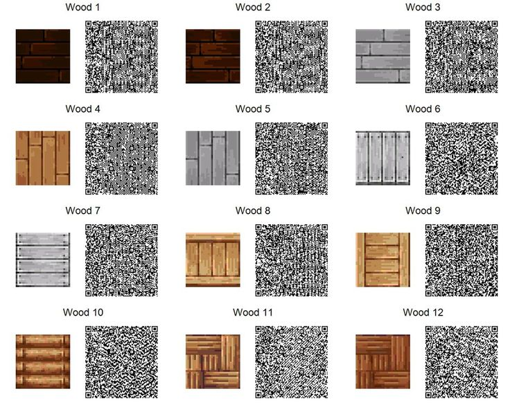 ACNL QR Code: Wood Tiles (If too small, use download link at right of the page for full resolution.) 2 of 3