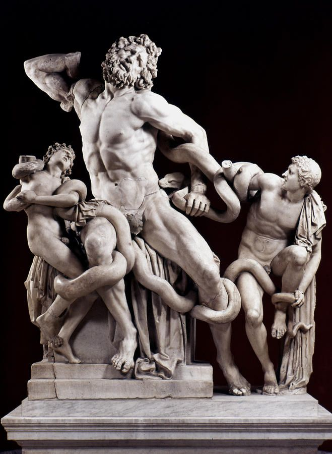 laocoon and his sons Laocoon reduction - item #824 the trojan priest laocoon and his sons are set upon by serpents at poseidon's command as punishment for laocoon warning the trojans.