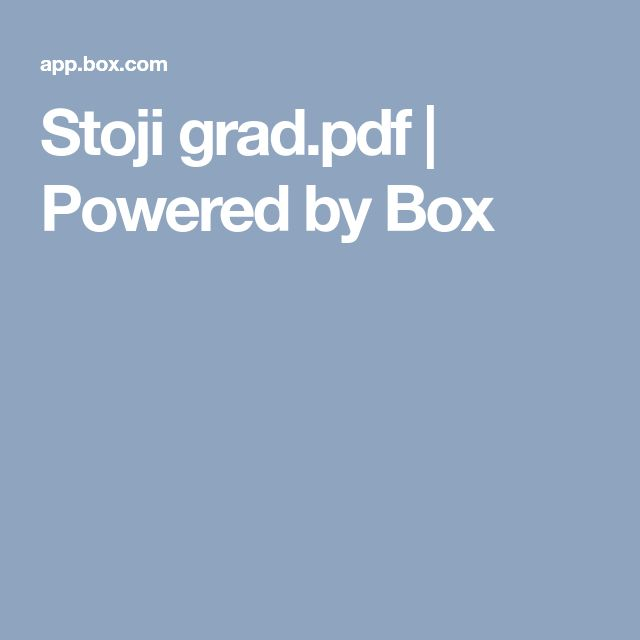 Stoji grad.pdf | Powered by Box