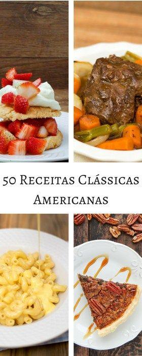 Nós adoramos viajar e achamos que outra forma de viajar é cozinhando. Se vocês são como nós, adorarão este livro, com 50 receitas clássicas americanas.