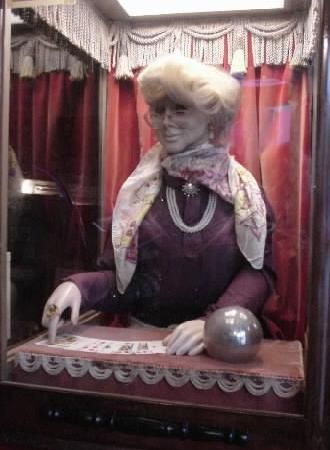 Mike Munves Grandmother's Predictions coin operated mechanical arcade fortune teller