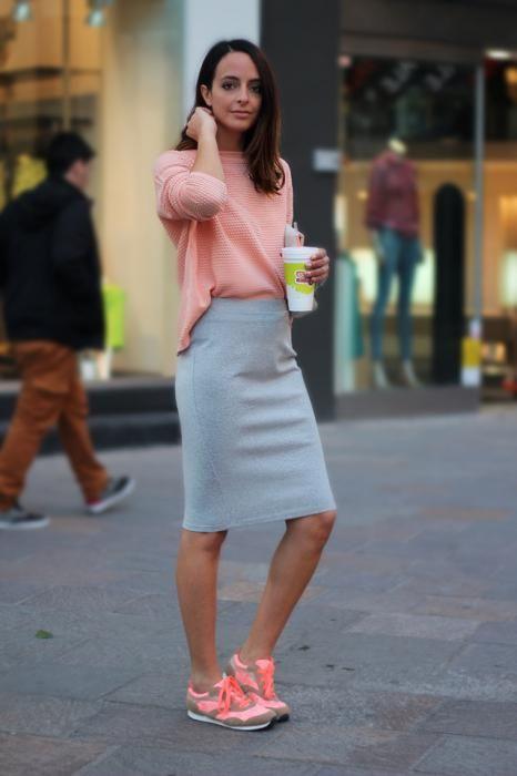 юбка с кроссовками фото