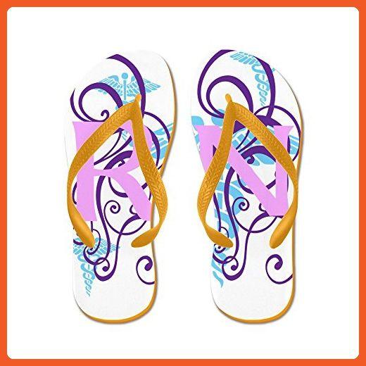 CafePress - RN - Pink Purple Flip Flops - Flip Flops, Funny Thong Sandals, Beach Sandals - Sandals for women (*Amazon Partner-Link)