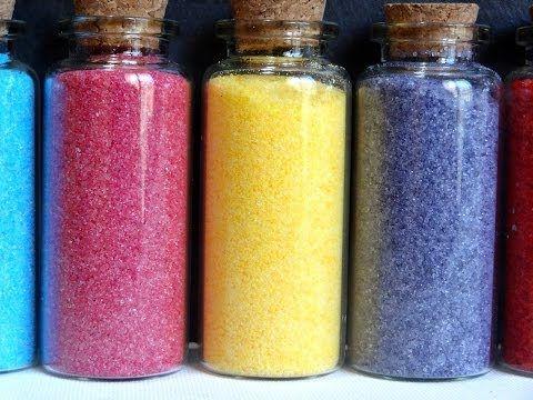 Truco: Colorear azúcar -- Cualquier color -- Vídeo receta (Paso a paso)