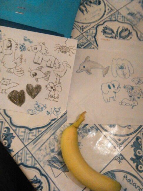 Punt opdracht banaan tattoo