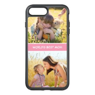 World's Best Mom #MothersDay Photos OtterBox Symmetry iPhone 7 Plus Case      Buy personalised Mother's Day phone cases at Funky Pigeon. Choose from a range of designs & add your own text or photo. iPhone 4, 5 & 6. Fast despatch.