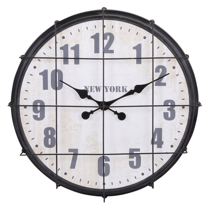 IMAX Ella Elaine New York Cage Wall Clock - 88679