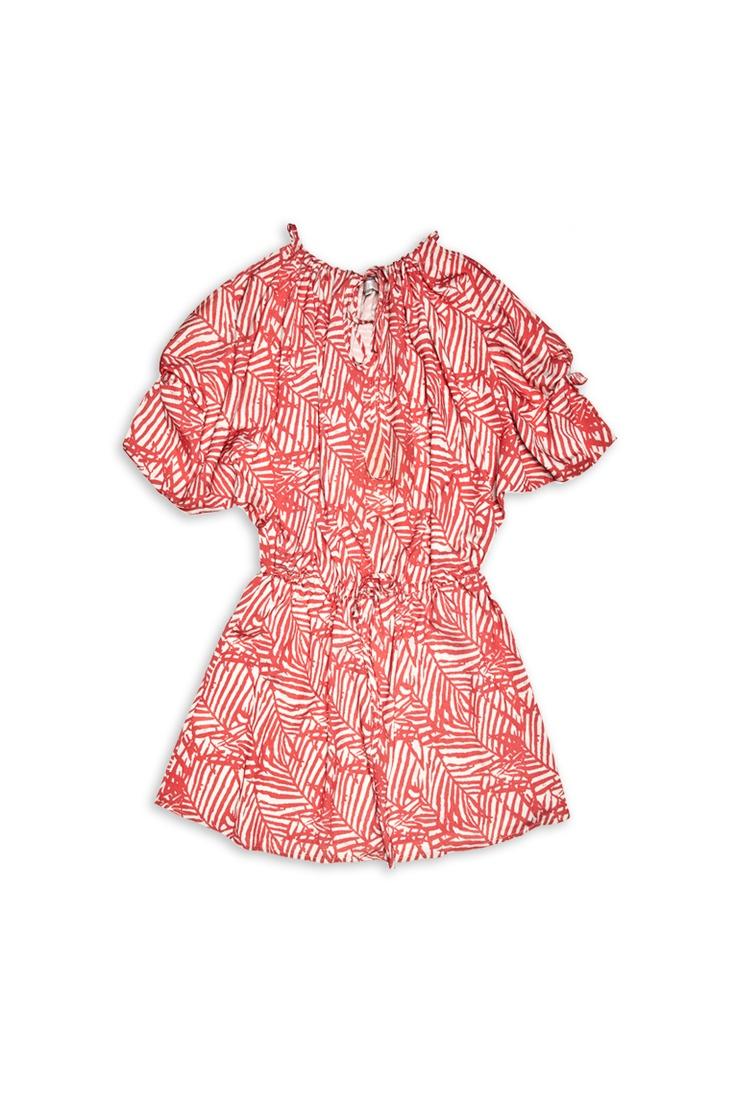 Cold Shoulder Print Dress #CostaBlanca $35.50